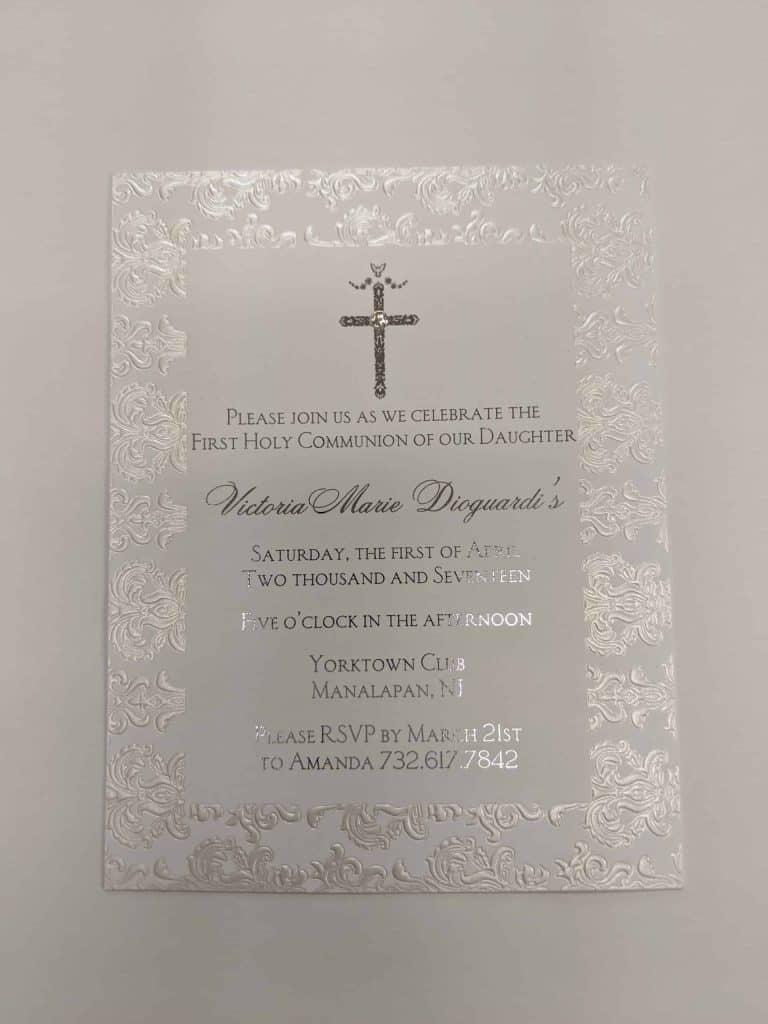 communion invitations New Jersey