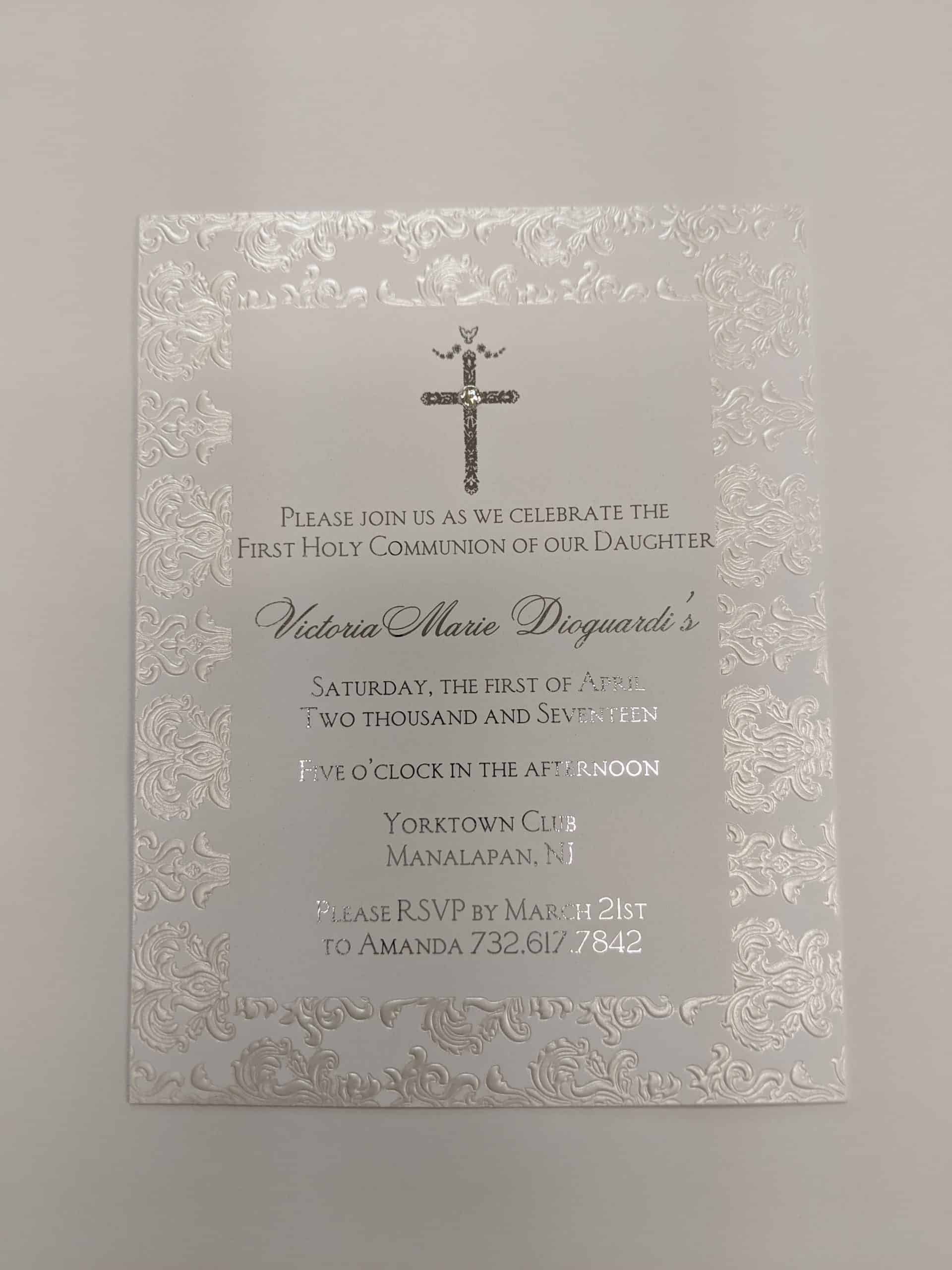communion invitations New Jersey