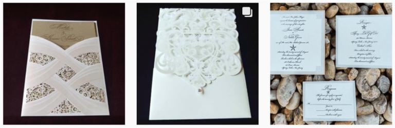 3 wedding invitations
