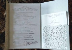 #4 laser cut and pocket wedding invitation
