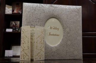 Tri-fold Paper wedding invitation