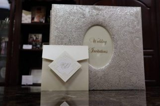 White Modern Wedding Invitation Monmouth NJ