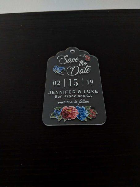 clear acrylic wedding invitation
